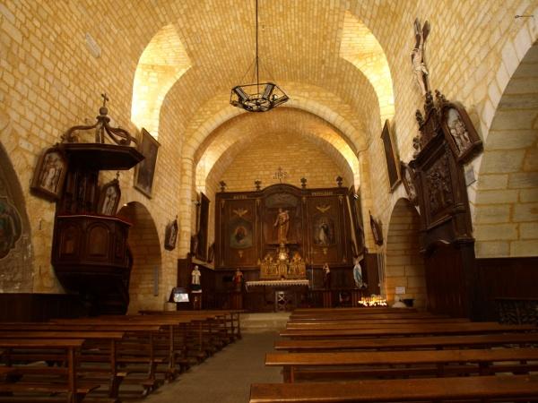 Photo Domme - Domme - Eglise Notre-Dame de l'Assomption -Nef