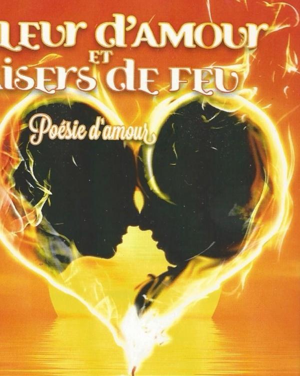 Couverture de Mon recueil de poésie Chaleur d'amour Baisers de feu