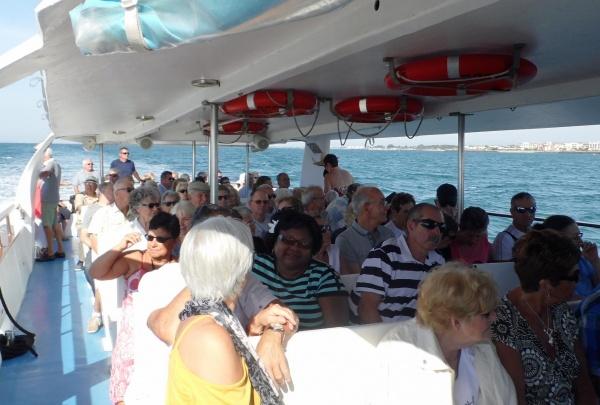 balade en mer au  large  du Grau d'Agde
