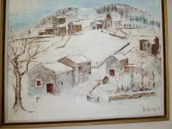 Photo dessins et illustrations, Malons-et-Elze - malons sous la neige peint par Alain