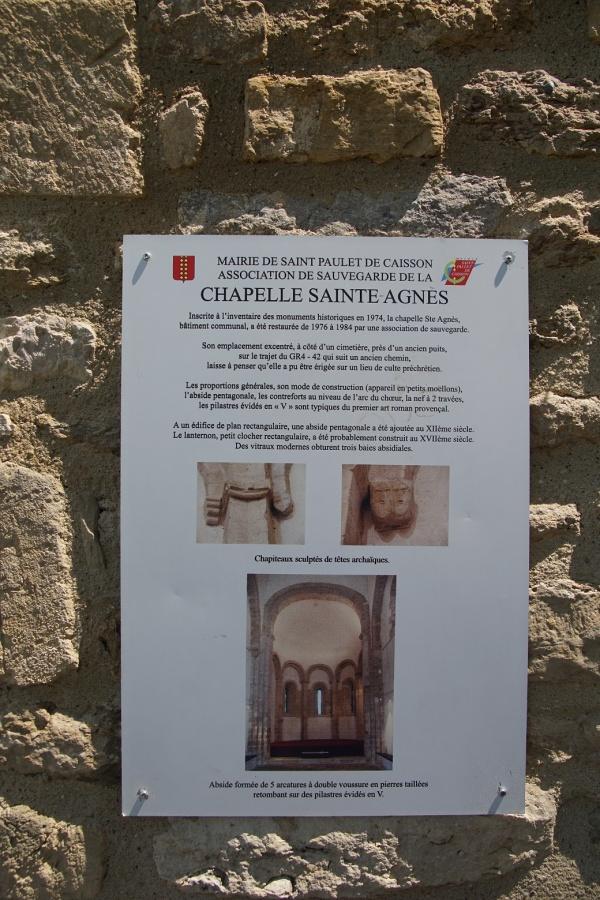 la Chapelle Sainte Agnes