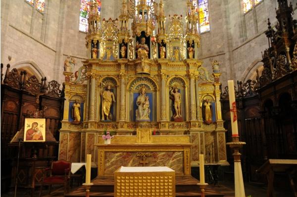 Photo Saint-Bertrand-de-Comminges - Cathédrale Sainte Marie - Le retable