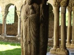 Photo paysage et monuments, Saint-Bertrand-de-Comminges - Cathédrale Sainte Marie - Cloître - pilier des 4 évangélistes