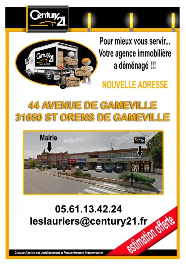 Photo Saint-Orens-de-Gameville - Votre agence immobilière Century 21 les lauriers déménage !!