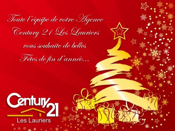 Century 21 Les Lauriers vous souhaite de Joyeuses Fêtes