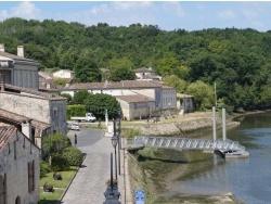 Photo paysage et monuments, Grézillac - Pey du Prat ( Grézillac) depuis le  pont de Branne