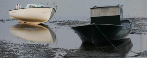 Photo Lège-Cap-Ferret - Marée basse dans la Conche au Cap Ferret