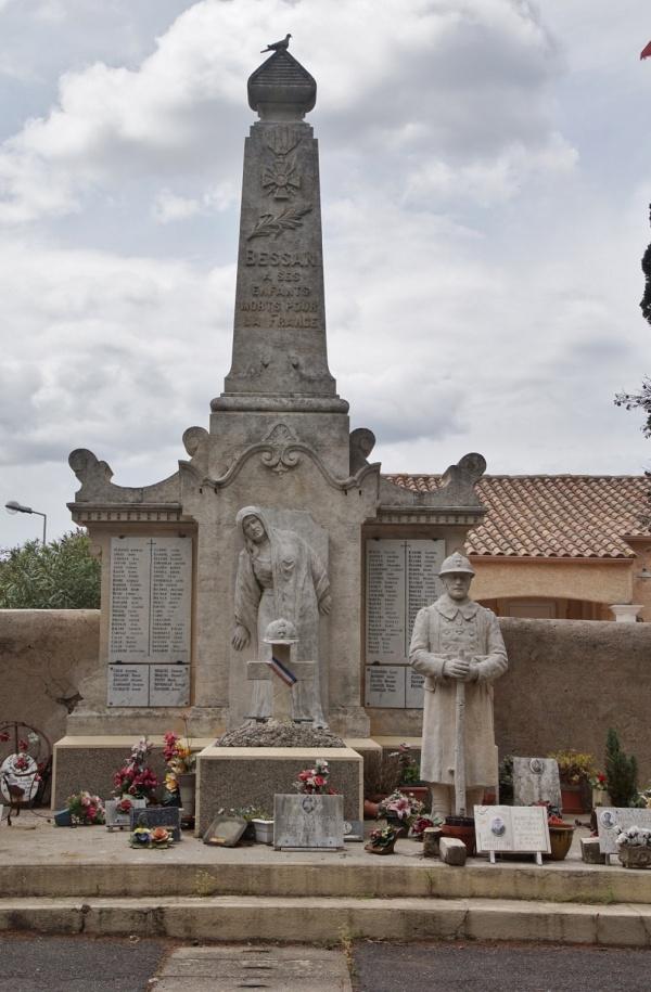 Photo Bessan - le monument Aux Morts