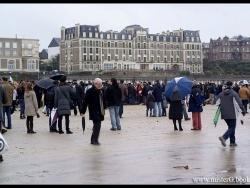 Plage de Lécluse à DINARD le 31 Décembre 2011.