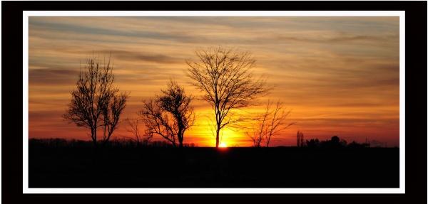 Photo Bléré - Couché de soleil de ma fenêtre.