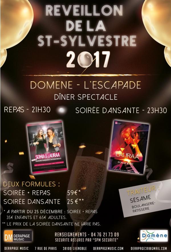 Réveillon du nouvel an 2017 - Grenoble