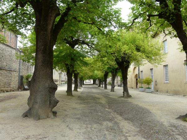 Place piétonne du bourg de St-Antoine l'Abbaye