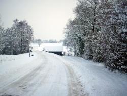 Photo paysage et monuments, Saint-Victor-de-Morestel - Sous la neige