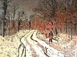 Photo dessins et illustrations, Asnans-Beauvoisin - ASNANS BEAUVOISIN .Chemin boisé.Influence Claude Monet.