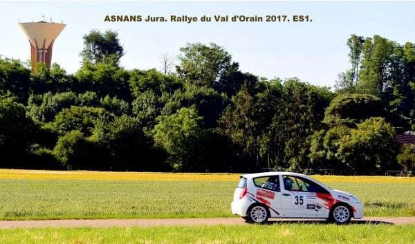 Asnans Jura.Rallye du val d'Orain 2017. ES 1.10 Juin 2017.B