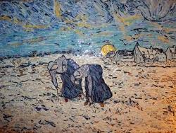 Photo dessins et illustrations, Asnans-Beauvoisin - Asnans Jura. les sarcleuses influence Vincent Van Gogh.Mosaïques en émaux de Bri