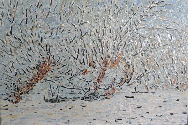 Photo Asnans-Beauvoisin - Asnans Jura. Atelier mosaïque, le givre, influence Claude Monet.