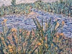 Photo dessins et illustrations, Asnans-Beauvoisin - Asnans jura. le creux bleu de Vornes. mosaïque en émaux de Briare.