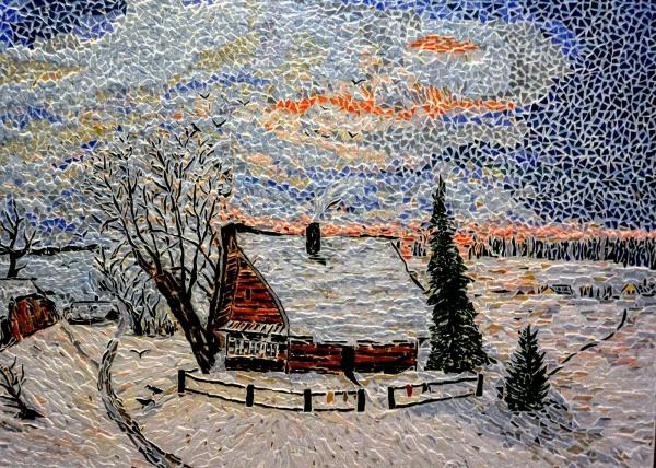 Asnans;  atelier mosaïques. Effet de neige. (Savrasov)