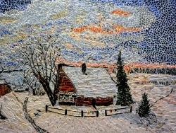 Photo dessins et illustrations, Asnans-Beauvoisin - Asnans;  atelier mosaïques. Effet de neige. (Savrasov)