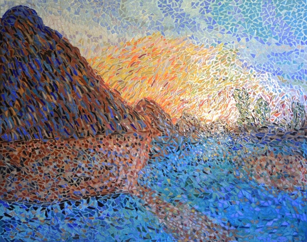 Asnans Jura. atelier mosaïques,Les meules.4. Influence Claude Monet.