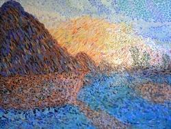 Photo dessins et illustrations, Asnans-Beauvoisin - Asnans Jura. atelier mosaïques,Les meules.4. Influence Claude Monet.
