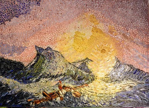Asnans Jura, Atelier mosaïque. La neuvième vague (Aïvasovski)