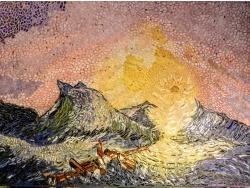 Photo dessins et illustrations, Asnans-Beauvoisin - Asnans Jura, Atelier mosaïque. La neuvième vague (Aïvasovski)