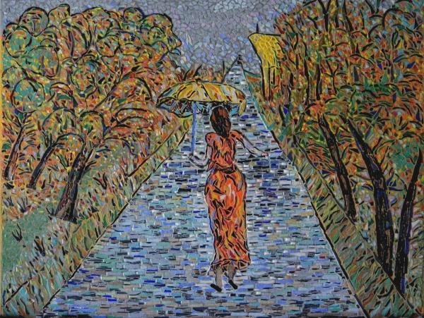 Asnans jura atelier mosaiques. Le Chemin de la sainte-Barbe en émaux de Briare.