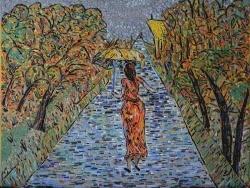 Photo dessins et illustrations, Asnans-Beauvoisin - Asnans jura atelier mosaiques. Le Chemin de la sainte-Barbe en émaux de Briare.