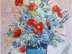 Photo dessins et illustrations, Asnans-Beauvoisin - Asnans jura atelier mosaiques.  fleurs d'été