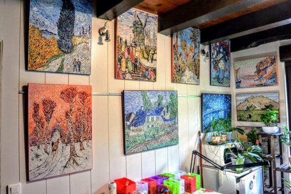 Asnans Jura; Atelier mosaïques septembre 2020.