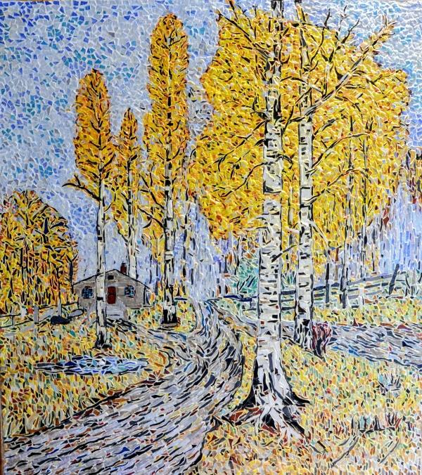 Asnans jura ; atelier mosaïques; Automne Doré en Russie.