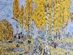 Photo dessins et illustrations, Asnans-Beauvoisin - Asnans jura ; atelier mosaïques; Automne Doré en Russie.