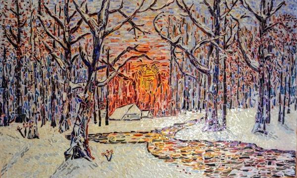 Asnans jura; atelier mosaïques; promenade en forêt.