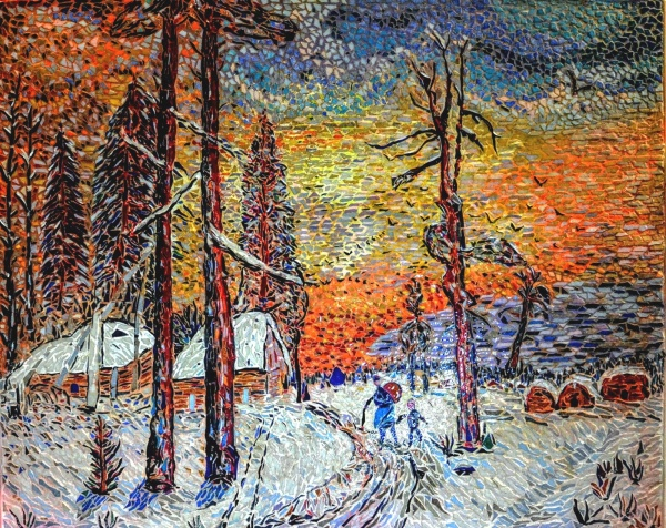 Photo Asnans-Beauvoisin - Asnans jura atelier mosaiques.  Hiver Russe.