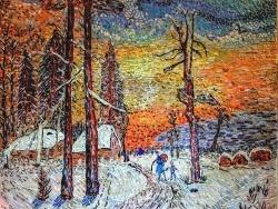 Photo dessins et illustrations, Asnans-Beauvoisin - Asnans jura atelier mosaiques.  Hiver Russe.