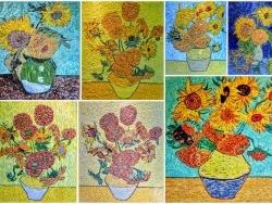 Photo dessins et illustrations, Asnans-Beauvoisin - Asnans jura,  atelier mosaïques.  Les Tournesols.