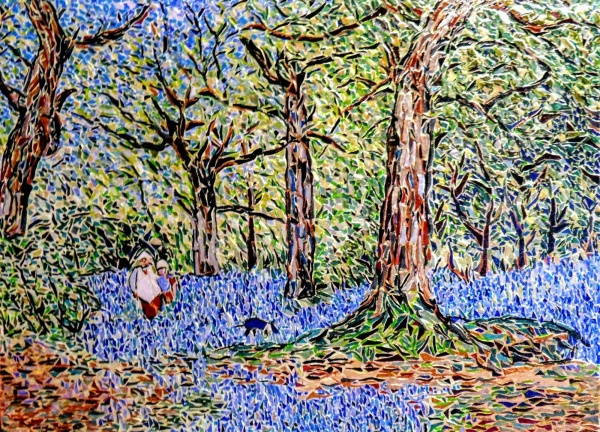 Asnans jura atelier mosaïques. Blue Bells foret ( Benjamin Williams Leader ).