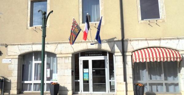 Bletterans Jura; siège de la communauté de communes.B.