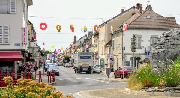 Bletterans  Jura,Juillet 2019.grande-rue