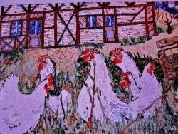Photo dessins et illustrations, La Chaux-en-Bresse - Poules à la Chaux en Bresse-Jura