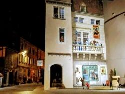 Photo paysage et monuments, Dole - Dole Jura. Rue de la sous-préfecture. Nuit. Août 2018.