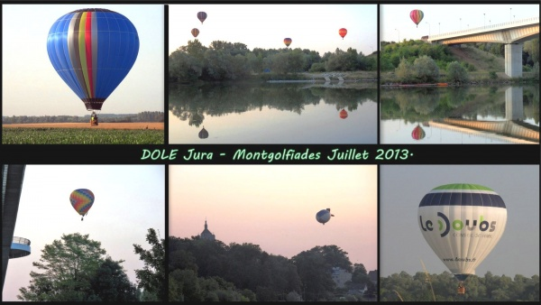 Photo Dole - Dole Jura-Montgolfiades juillet 2013.