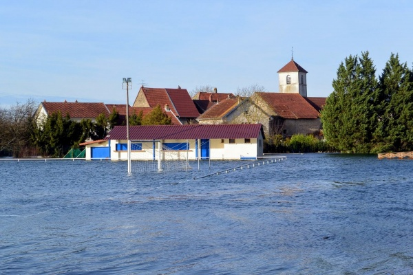 Photo Molay - Molay Jura. Inondations 24 Janvier 2018.