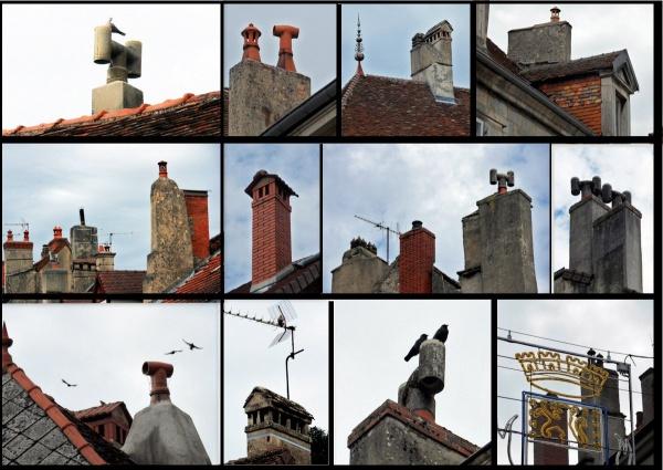 Photo Poligny - Les cheminées typiques de Poligny.jura.