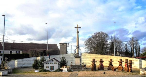 Saint-Aubin Jura. Rond-point décembre 2019