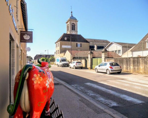 Photo Saint-Aubin - Saint-Aubin Jura, route de Dijon