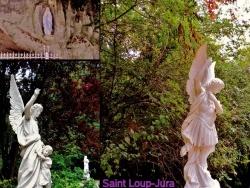 Photo paysage et monuments, Saint-Loup - Saint-Loup.Jura.La grotte,montage photos.