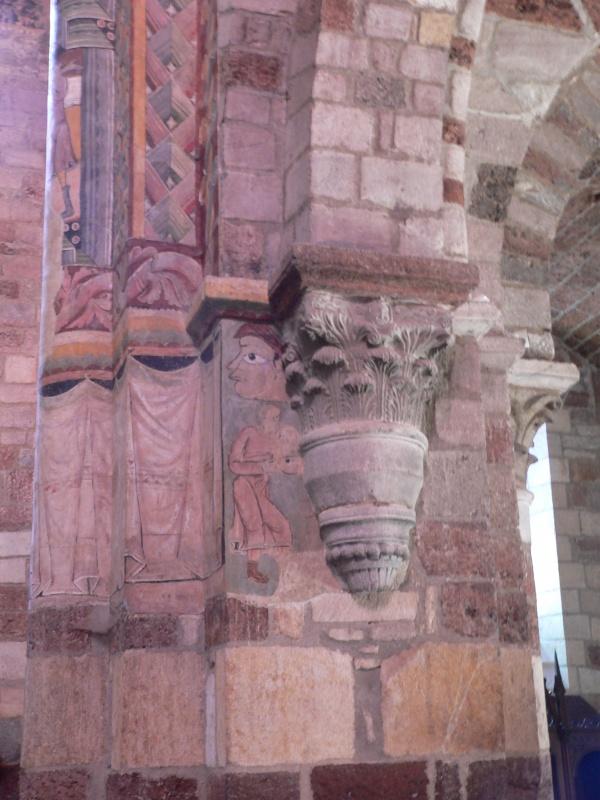 Photo Brioude - Basilique Saint Julien, fresque du pilier sud du narthex